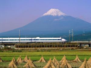Rail near Mt. Fuji